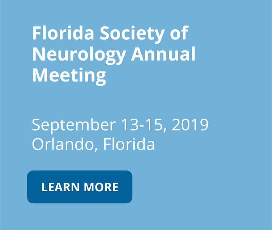 Florida Society of Neurology Annual Meeting on september 13 to 15 2019