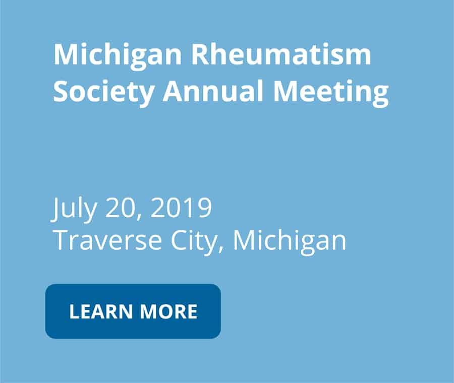 Michigan Rheumatism Society Annual Meeting on July 20 2019