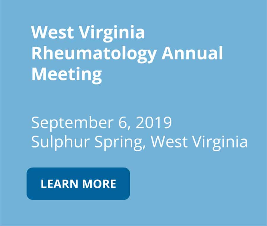 West Virginia Rheumatology Annual Meeting on september 6 2019